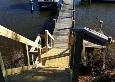Southern MD Pier Stairs